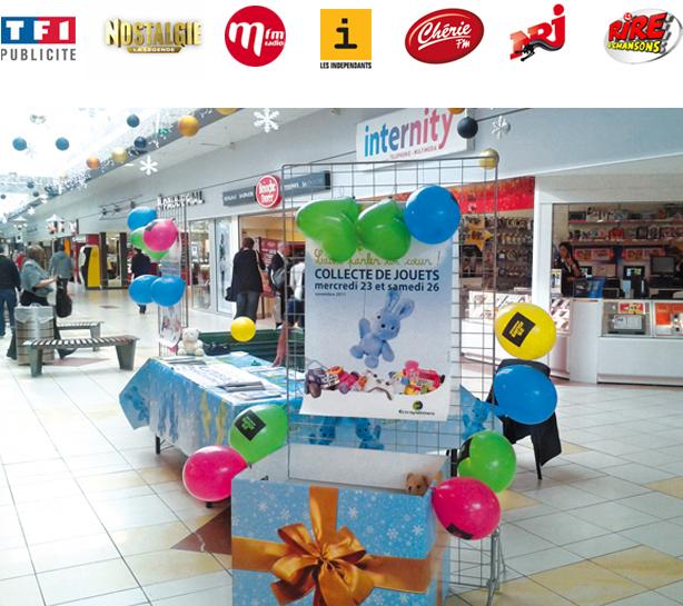 stand pour la collecte de jouets Eco-systèmes