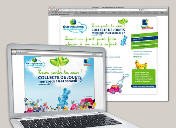 Visuel du site collecte de jouets d'Eco-systèmes