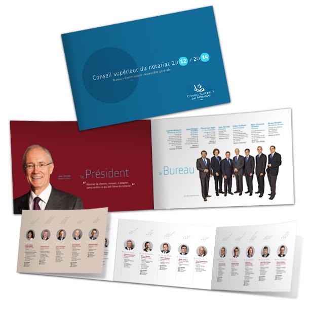 Stratégie de communication, trombinoscope Conseil Supérieur du Notariat