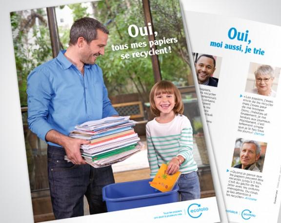 Ecofolio dépliant développer le recyclage des papiers