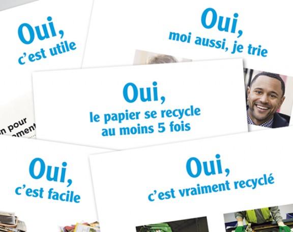 Ecofolio affiches développer le recyclage des papiers